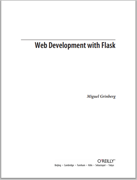 Flask Book front page