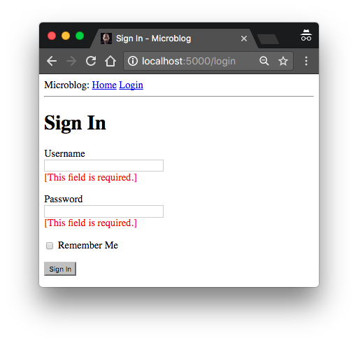 The Flask Mega-Tutorial Part III: Web Forms - miguelgrinberg com
