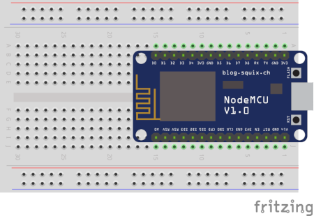 ESP8266 on Breadboard